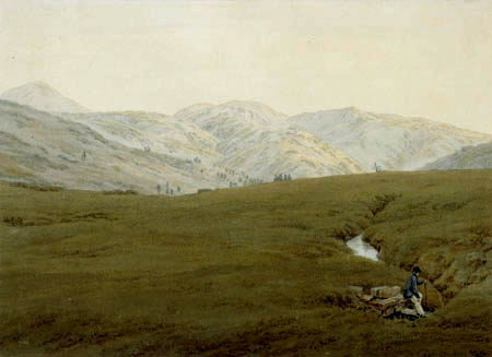 Caspar David Friedrich - The Elbe River in the Giant Mountains