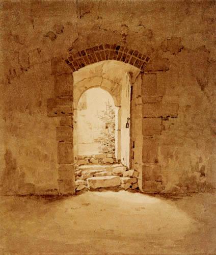 Caspar David Friedrich - Kammereingang der Klosterkirche