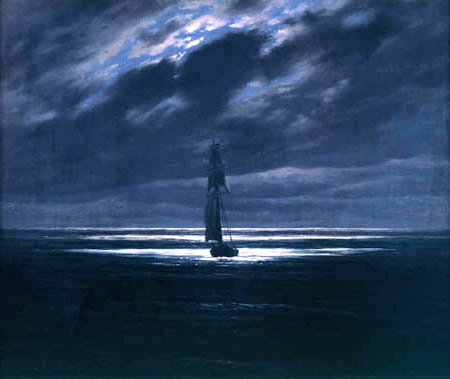 Caspar David Friedrich - Seascape in Moonlight