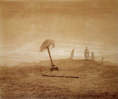 Caspar David Friedrich - Landschaft mit Gräbern