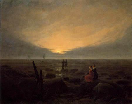 Caspar David Friedrich - Mondaufgang über dem Meer