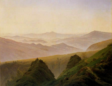 Caspar David Friedrich - Dawn in the mountins