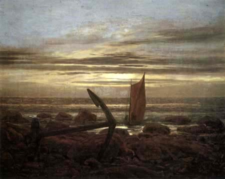 Caspar David Friedrich - An Evening at the Baltic Sea