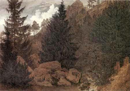 Caspar David Friedrich - Rocky landscape