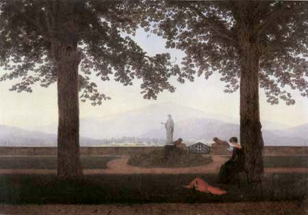 Caspar David Friedrich - Garden Terrace