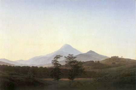 Caspar David Friedrich - Böhmische Landschaft