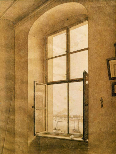 Caspar David Friedrich - View from the artist's studio
