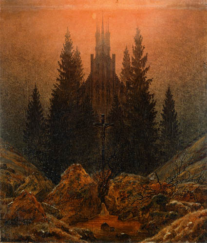 Caspar David Friedrich - A cross in the mountains