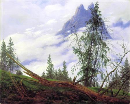 Caspar David Friedrich - Hochgebirgsgipfel