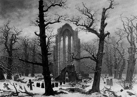 Caspar David Friedrich - Cloister Cemetery in the Snow