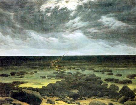 Caspar David Friedrich - Sea coast in the moonlight