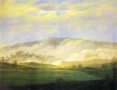 Caspar David Friedrich - Fog in the Elbe Valley