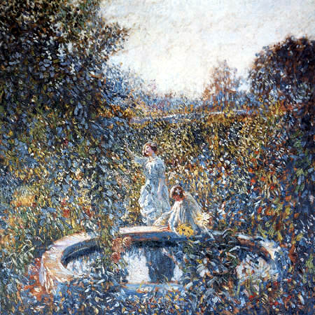 Frederick Carl Frieseke - The Blue Garden