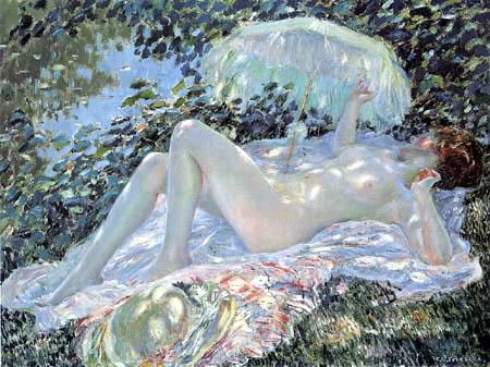 Frederick Carl Frieseke - Summer, Venus in the Sunlight