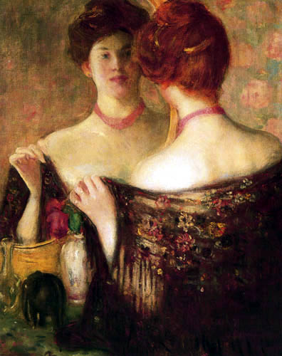 Frederick Carl Frieseke - Woman before a Mirror