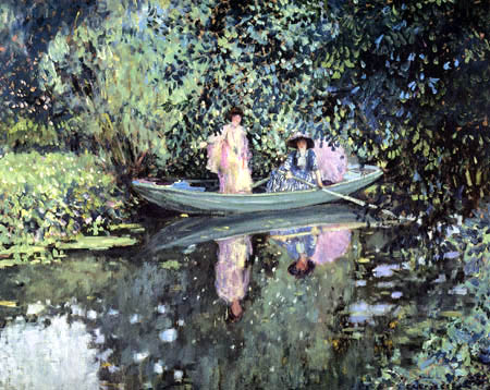 Frederick Carl Frieseke - Two Ladies in a Boat