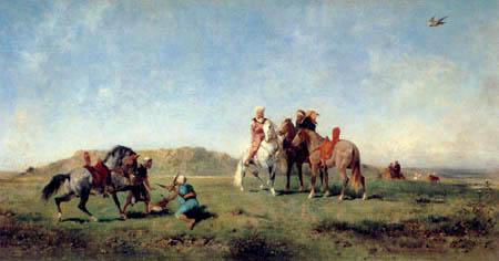 Eugene Fromentin - Falcon hunt in Algeria