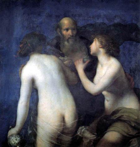 Francesco Furini - Lot und seine Töchter