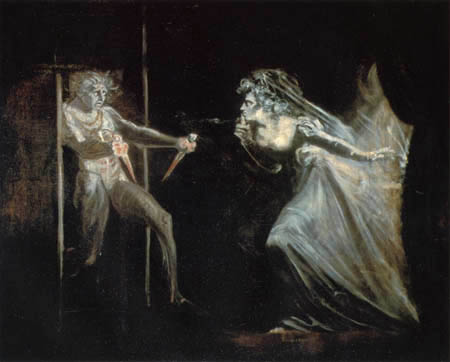 Henry Fuseli - Lady Macbeth mit Dolchen