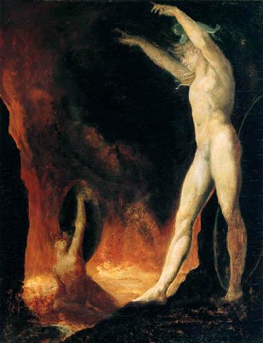 Henry Fuseli - Satan über dem feurigen See