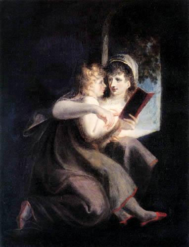 Henry Fuseli - Milton als Kind von der Mutter unterrichtet