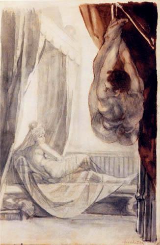 Johann Heinrich Füssli - Brünhild und der gefesselte Gunther