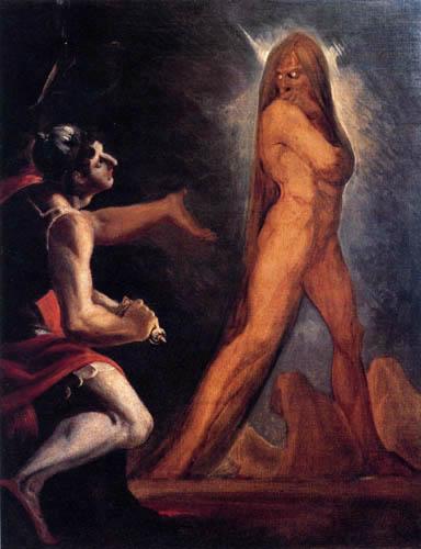Henry Fuseli - Odysseus und der Schatten Aias