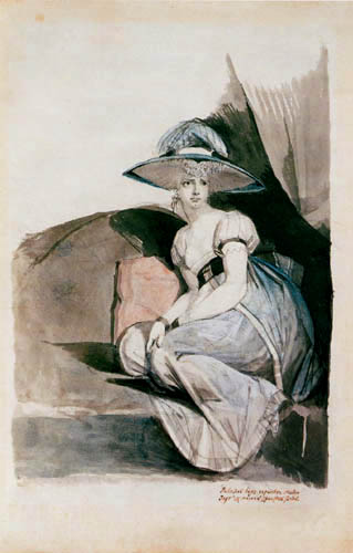 Johann Heinrich Füssli - Mrs. Füssli mit breitrandigem Hut
