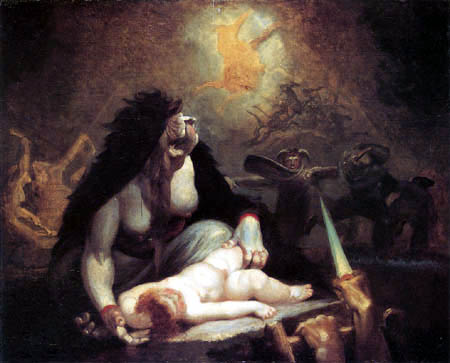 Henry Fuseli - The Night-Hag Visiting Lapland Witches