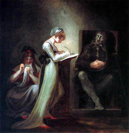 Johann Heinrich Füssli - Milton diktiert seiner Tochter