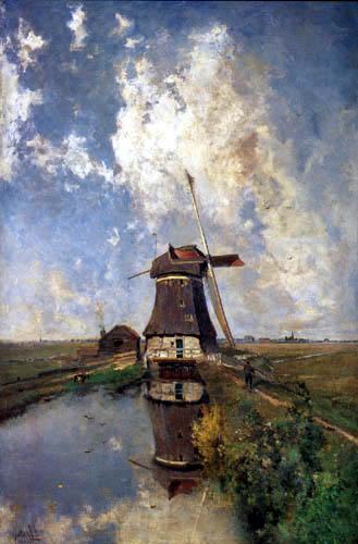 Paul Joseph Constantin Gabriël - Mill near Graveland