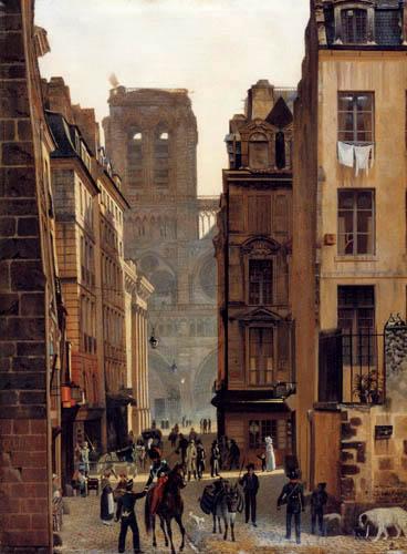 Eduard Gaertner - Rue Neuve-Notre-Dame