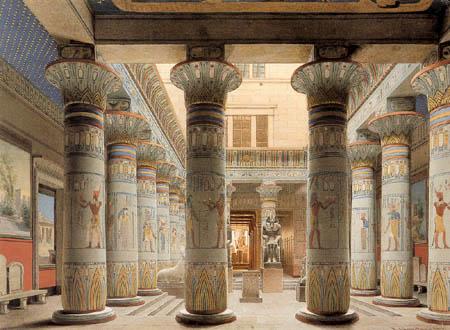 Eduard Gaertner - The Egyptian Atrium in the New Museum