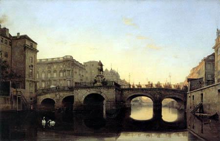 Eduard Gaertner - View of the Long Bridge, Berlin