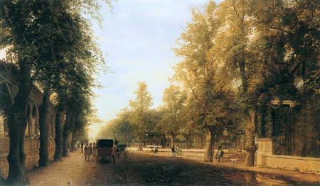 Eduard Gaertner - The Berlin Street in Charlottenburg