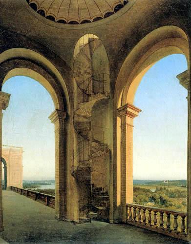 Eduard Gaertner - Vue de Belvedere