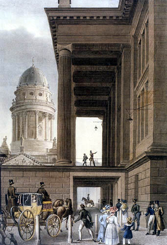 Eduard Gaertner - La entrada al teatro real
