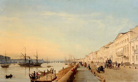 Eduard Gaertner - English Quay in St. Petersburg