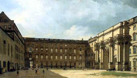 Eduard Gaertner - Eosanderhof des königlichen Schloßes
