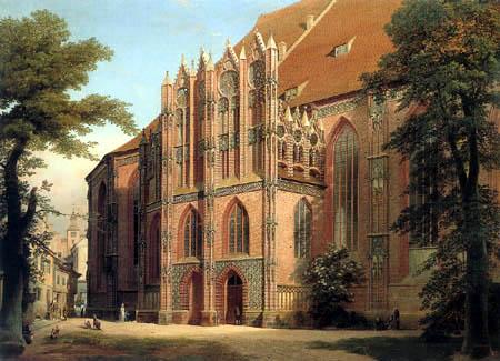 Eduard Gaertner - The Chapel of St. Catherine's Church in Brandenburg