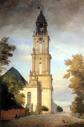 Eduard Gaertner - Die Garnisonkirche zu Potsdam