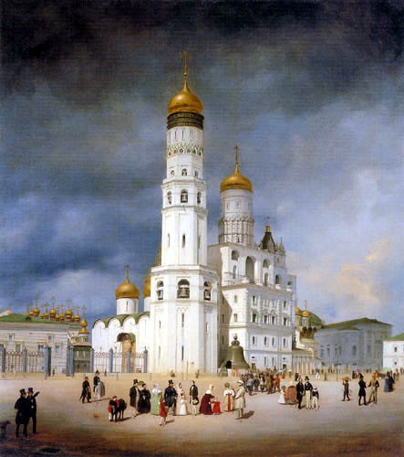 Eduard Gaertner - Ivanovskaya Square in the Moscow Kremlin