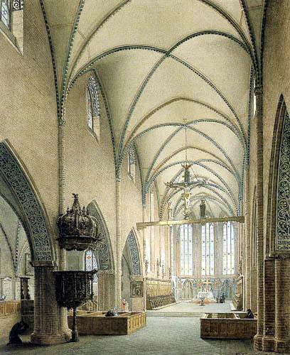 Eduard Gaertner - Interior of the Monastery Church in Berlin
