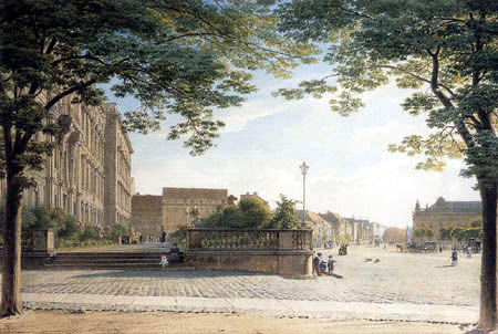 Eduard Gaertner - View from the castle to the road Unter den Linden