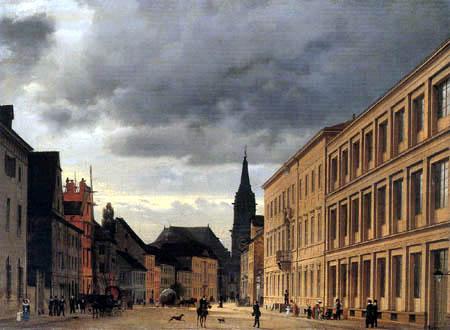 Eduard Gaertner - Klosterstrasse with Parish Church, Berlin