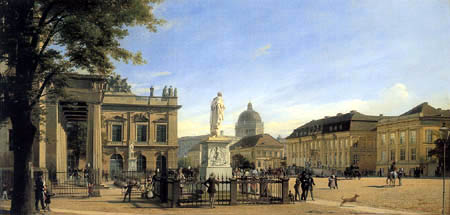 Eduard Gaertner - View of the Crown Prince's Palace