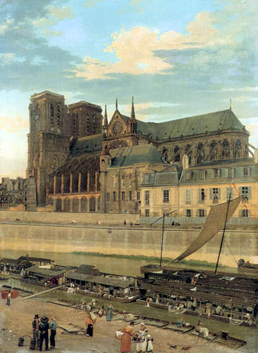 Eduard Gaertner - Notre-Dame with the Archevêché