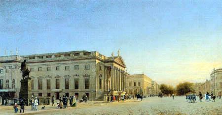 Eduard Gaertner - The opera and the road Unter den Linden