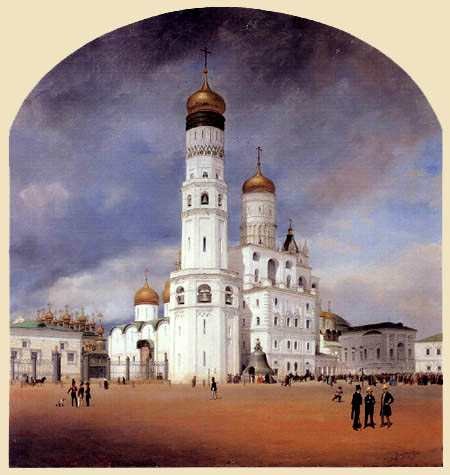 Eduard Gaertner - Panoramic View from the Kremlin in Moscow, Center