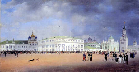Eduard Gaertner - Panoramic View from the Kremlin in Moscow, Right
